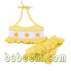 star smocked swimwear